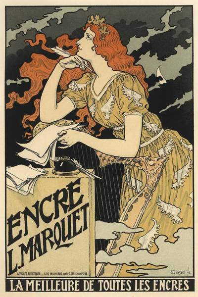 Belle Epoque Photograph - Encre L. Marquet by Gianfranco Weiss