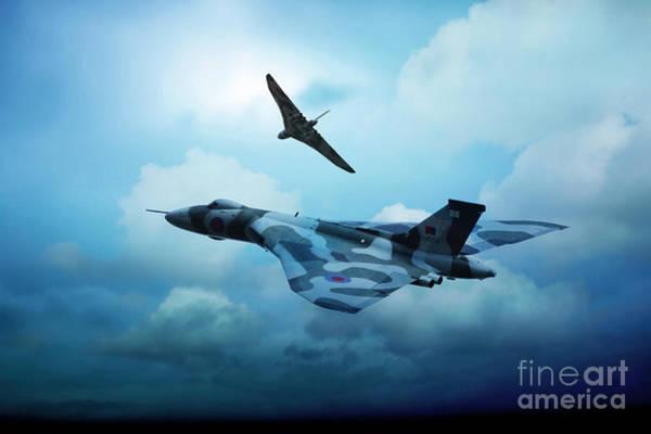 Vulcan Xh558 Wall Art - Digital Art - End Of An Era by J Biggadike