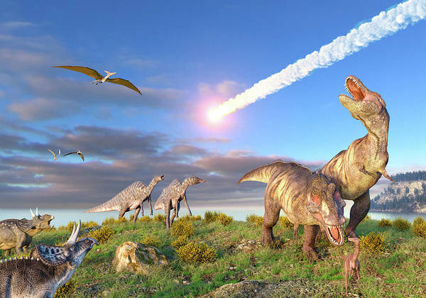 Wall Art - Photograph - End Of Cretaceous Kt Event by Roger Harris/science Photo Library