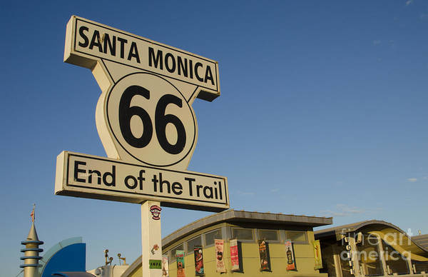 End Of The Trail Photograph - End Of Route 66 by Bill Bachmann