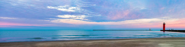 Waterbreak Wall Art - Photograph - End Of The Blue Hour by Steven Santamour