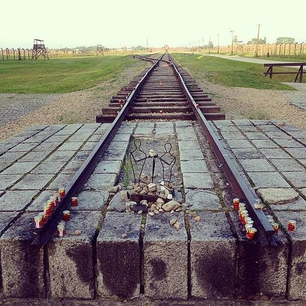 Death Wall Art - Photograph - End Of The Death Road. Birkenau by Elena Tchoujtchenko