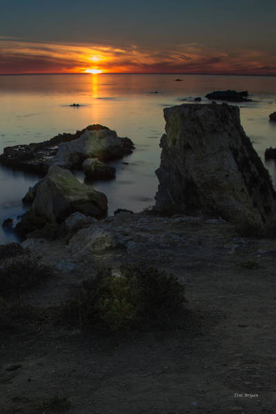 Photograph - End Of The Evening--- Shell Beach by Tim Bryan