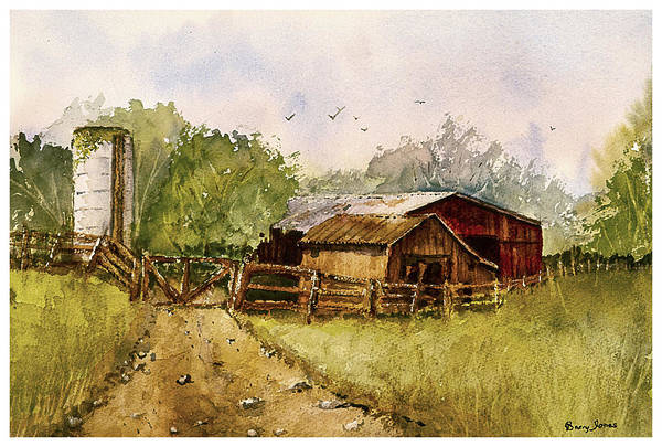 Painting - End Of The Gravel Road by Barry Jones