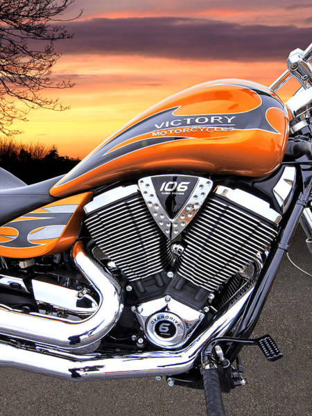 Photograph - End Of The Ride - Victory Motorcycle 106 by Gill Billington