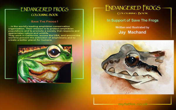 Painting - Endangered  Frogs by Hartmut Jager