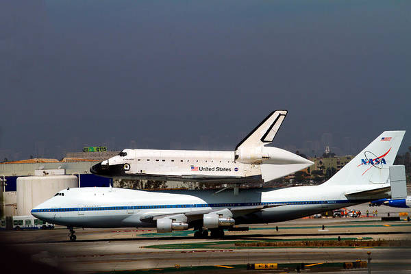 Photograph - Endeavor And Nasa 747 Taxi After Final Landing by Denise Dube