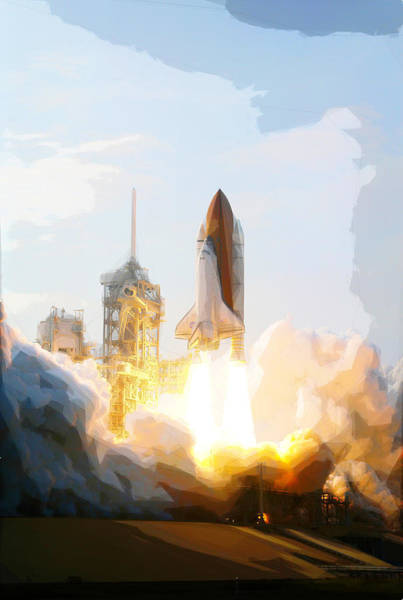 Painting - Endeavour Mission by Celestial Images