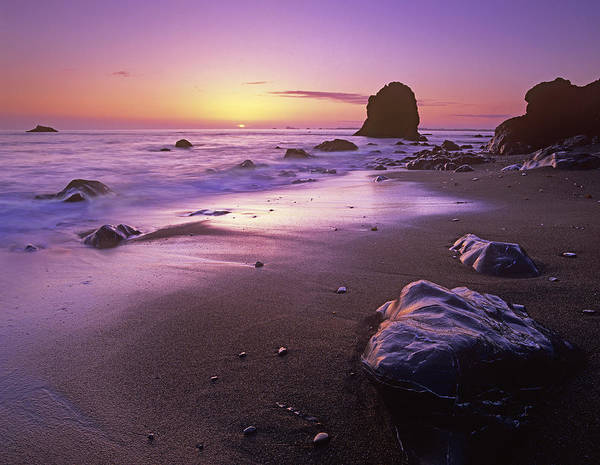 Photograph - Enderts Beach At Sunset by Tim Fitzharris