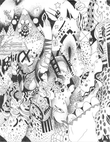 Organic Form Drawing - Endless Desire by Helena Tiainen
