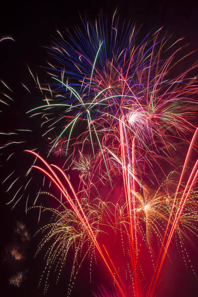 Fireworks Display Wall Art - Photograph - Endless Fireworks by Garry Gay