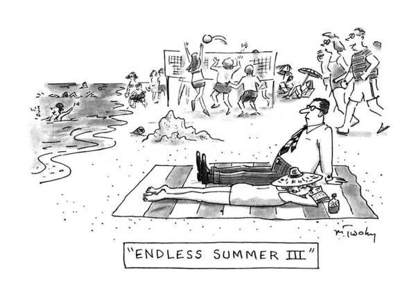 Endless Wall Art - Drawing - Endless Summer IIi by Mike Twohy