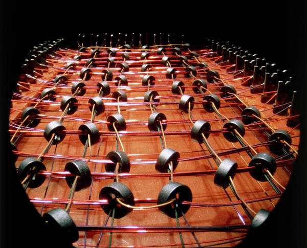 Core Photograph - Endoscope View Of The Magnetic Core Memory Array by Alfred Pasieka/science Photo Library