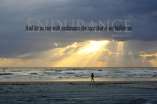 Hebrews Photograph - Endurance by Valerie Tull