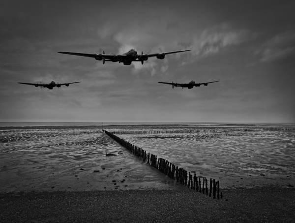 Photograph - Enemy Coast Ahead Skipper Black And White Version by Gary Eason