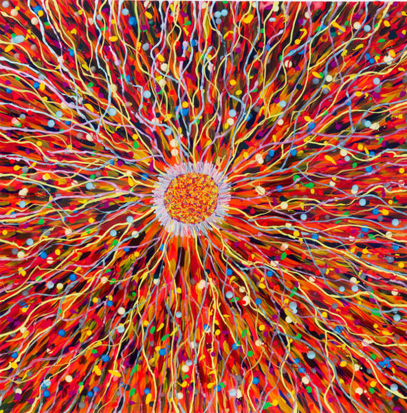 Wall Art - Painting - Energy Field by Patrick OLeary