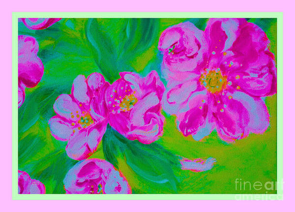 Mixed Media - Energy Of Art. Wild Roses by Oksana Semenchenko