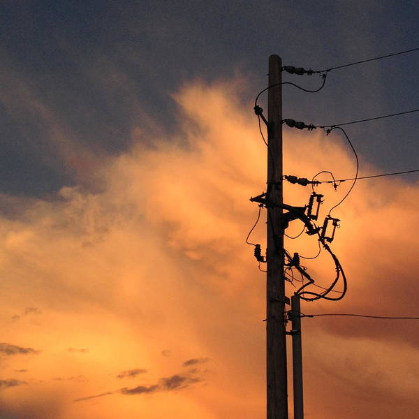 Wall Art - Photograph - Energy-power Line-clouds by Don Spenner