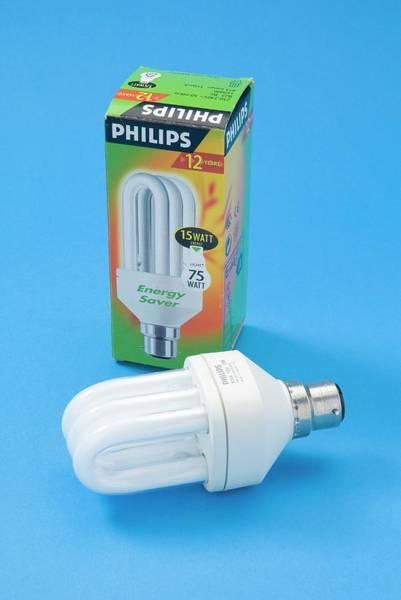 Energy-saving Wall Art - Photograph - Energy-saving Bulb by Trevor Clifford Photography