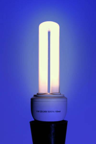 Energy-saving Light Bulb Art Print