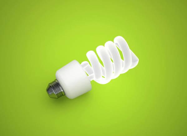 Energy-saving Wall Art - Photograph - Energy Saving Lightbulb by Jesper Klausen / Science Photo Library