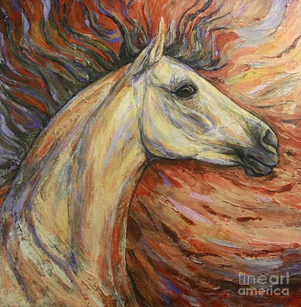White Horse Wall Art - Painting - Energy by Silvana Gabudean Dobre