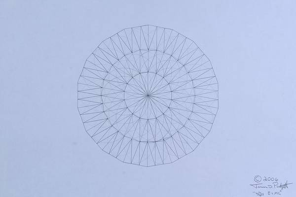 Wall Art - Drawing - Energy Wave 20 Degree Frequency by Jason Padgett