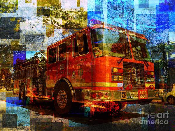 Fire Ball Wall Art - Photograph - Engine 181 by Robert Ball