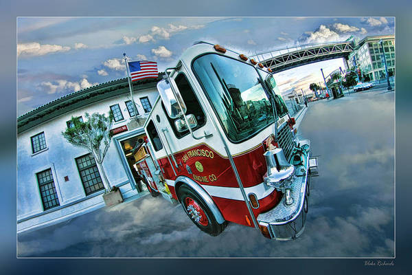 Photograph - Engine 35 San Francisco by Blake Richards