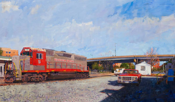 Trains Painting - Buckingham Branch Engine #5 by Edward Thomas