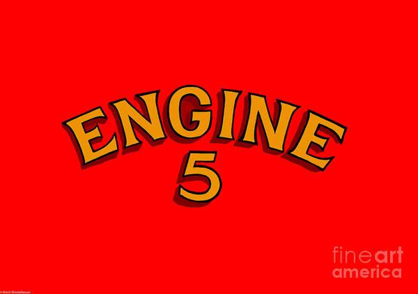 Firetruck Photograph - Engine 5 by Mitch Shindelbower