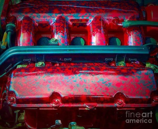 Gitana Wall Art - Photograph - Engine Art by Gitana Banks