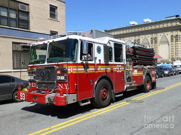 Photograph - Engine Company 93 Fdny by Steven Spak