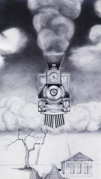 Drawing - Engine No. 5 by David Neace