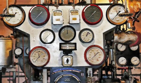 Wall Art - Photograph - Engine Room Abstract by Steve Ohlsen