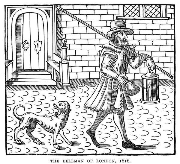 Wall Art - Painting - England Bellman, 1616 by Granger