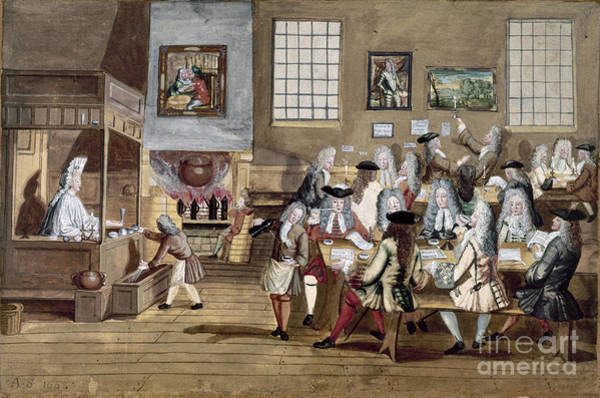 Photograph - England: Coffee House by Granger