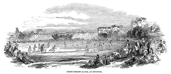 Brighton Painting - England Cricket, 1844 by Granger