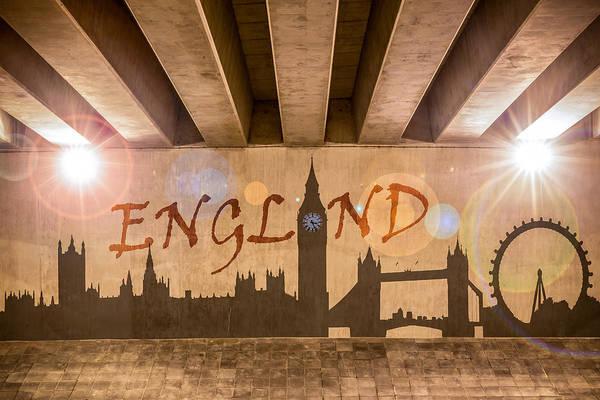 Wall Art - Photograph - England Graffiti Landmarks by Semmick Photo