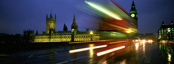 The Clock Tower Photograph - England, London, Houses Of Parliament by Panoramic Images