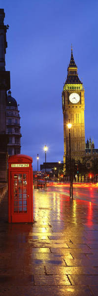 London Phone Booth Wall Art - Photograph - England, London by Panoramic Images