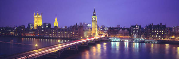 Houses Of Parliament Wall Art - Photograph - England, London, Parliament, Big Ben by Panoramic Images