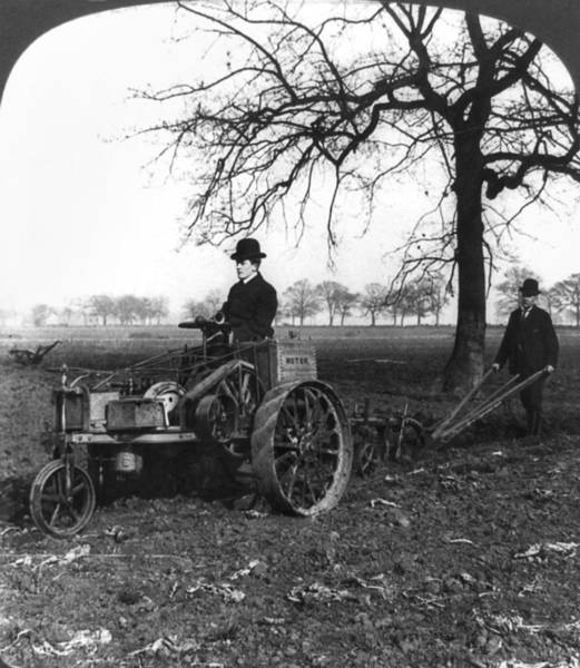 Ploughing Painting - England Motor Plow, C1905 by Granger