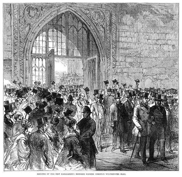 Wall Art - Painting - England Parliament, 1868 by Granger