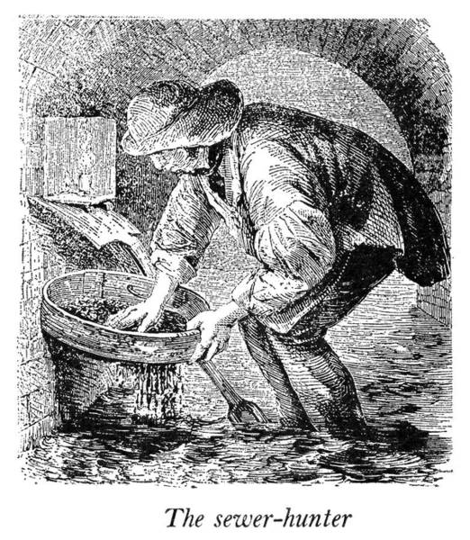 Sewer Painting - England Poverty by Granger