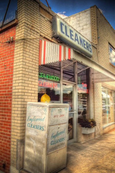 Ish Wall Art - Photograph - Englewood Cleaners 4540 by Timothy Bischoff