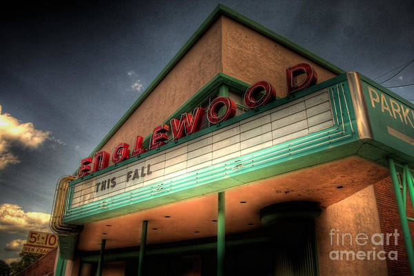Ish Wall Art - Photograph - Englewood Theater 4507 by Timothy Bischoff