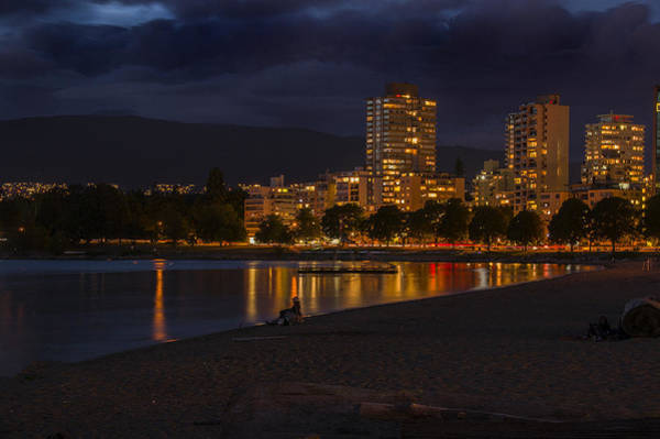 Photograph - English Bay By Night by Ross G Strachan