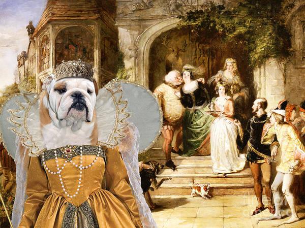 English Bulldog Painting - English Bulldog Art - Merry Wives Of Windsor by Sandra Sij