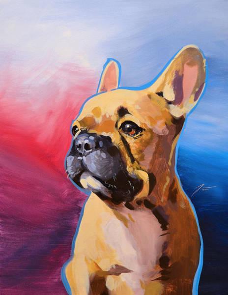 English Bulldog Painting - English Bulldog by David Tenorio